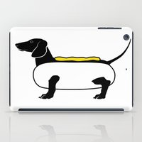 hot dog iPad Cases featuring Hot Dog by Lucy Conklin