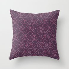 Fruity swirls Throw Pillow