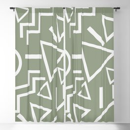 Shapes- lost and found Blackout Curtain