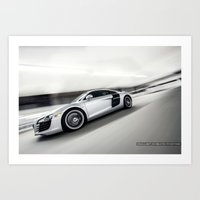 audi Art Prints featuring Audi R8 - V8  by Cullen Cheung Photos