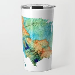 Colorful Map of The United States Of America 26 - Sharon Cummings Travel Mug