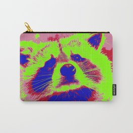 Pop Art Raccoon Carry-All Pouch