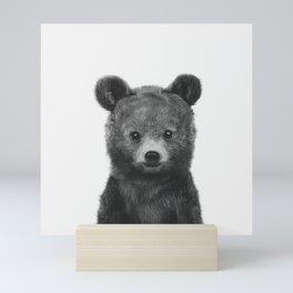 Black and White Baby Bear Mini Art Print