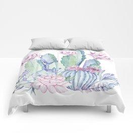 Desert Love Cactus + Succulents Comforters