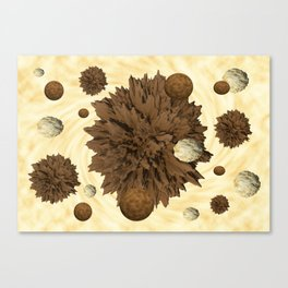Chocolate Asteroids Canvas Print