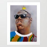 big poppa Art Prints featuring Big Poppa by Rigel Art