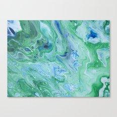 Cool Colors Expressions Canvas Print