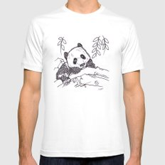 Panda Mens Fitted Tee White MEDIUM