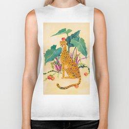 Cheetah and Apples Biker Tank
