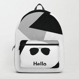Hello,black sunglasses Backpack