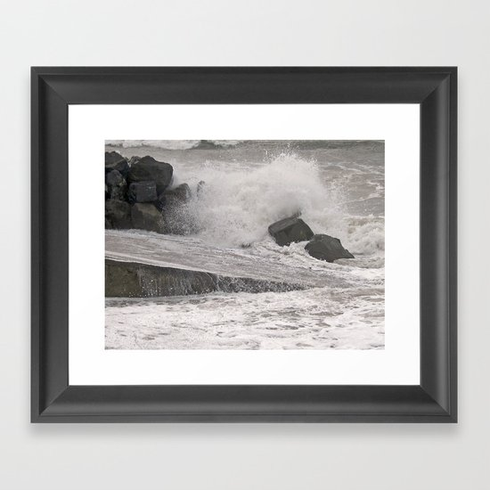 Angry Sea Framed Art Print