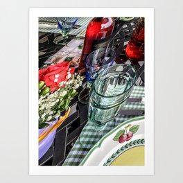 Spring Dinner Art Print