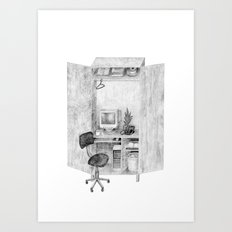 Closet Office  Art Print
