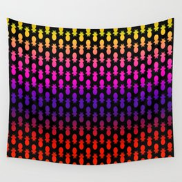Pineapples Disco Wall Tapestry