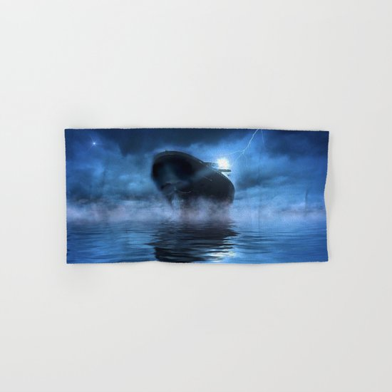 Ghost Ship Guided by Star Hand & Bath Towel