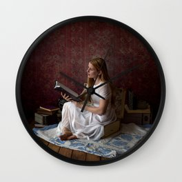 Reading Takes you Places - Book Lover's Fine Art Portrait Wall Clock