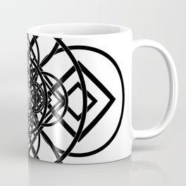 Diamonds Over Not Quite Spades B&W Coffee Mug