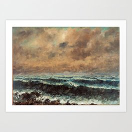 Autumn Sea by Gustave Courbet Art Print