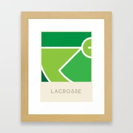 Lacrosse (Sports Surfaces Series, No. 14) Framed Art Print