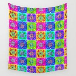 Boho Tapestry Tiles in India Silk Multi Wall Tapestry