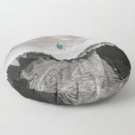 Mysterious Blue Orbs Floor Pillow