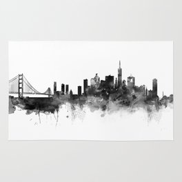 San Francisco Black and White Rug