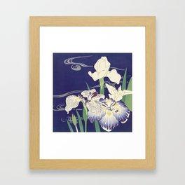 Japanese Iris Print, Tsukioka Kôgyo, 1890 Framed Art Print