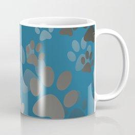 Footprint Animal turquoise Coffee Mug