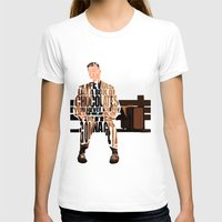 forrest T-shirts featuring Forrest Gump by Ayse Deniz