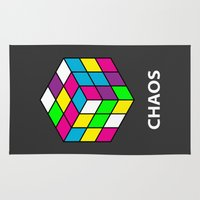 chaos Area & Throw Rugs featuring Chaos by Dizzy Moments