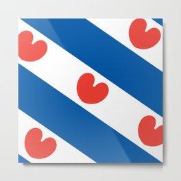 Flag of Friesland Metal Print
