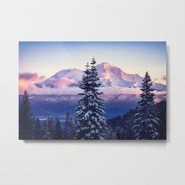 Glorious Beginning sunrise on Mount Shasta Metal Print