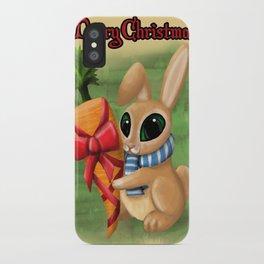Bunny Xmas Card iPhone Case
