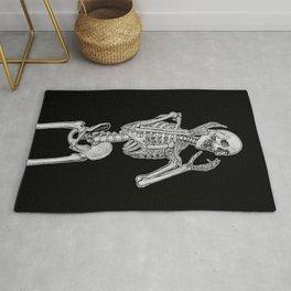 Skeleton screaming in horror Rug