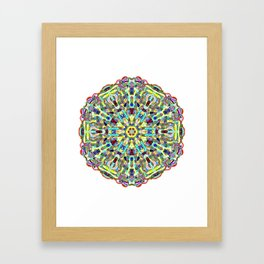 Beautiful Chrystal Glass Mandala Framed Art Print