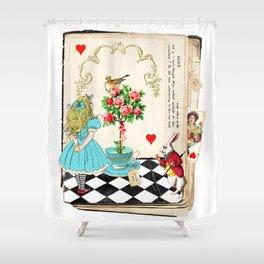 Alice's Book Alice in Wonderland Shower Curtain