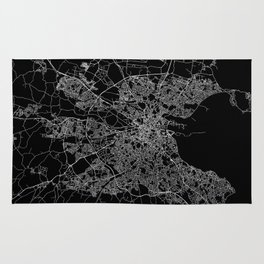 Dublin map Rug