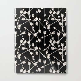 Arrows - Black and White by Andrea Lauren Metal Print