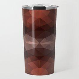 Mozaic design in dark brown colors Travel Mug