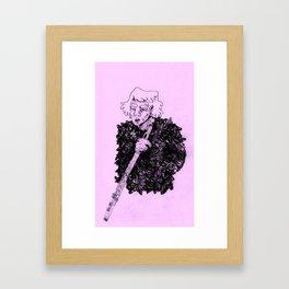 Flute Guy Framed Art Print