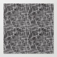 grid Canvas Prints featuring Grid by ChantalNathalie