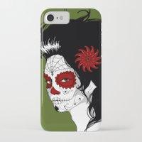 calavera iPhone & iPod Cases featuring Calavera by Griboedova Nat
