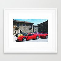 ferrari Framed Art Prints featuring Ferrari by saintsandevils