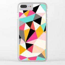 Kawaii Tris Clear iPhone Case