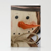 snowman Stationery Cards featuring Snowman  by IowaShots