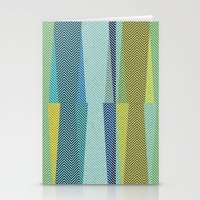 mid century Stationery Cards featuring Mid Century Herringbone 1 by David Andrew Sussman