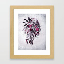 Skull Red Framed Art Print