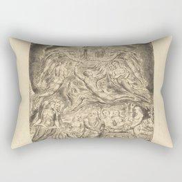 William Blake - Satan Before the Throne of God Rectangular Pillow