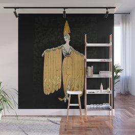 "Art Deco Illustration ""Oriental Gown"" Wall Mural"