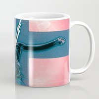 evangelion Mugs featuring Lilth from Evangelion by Barrett Biggers